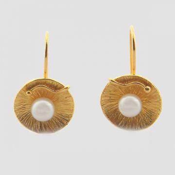 Σκουλαρίκια κίτρινα χρυσά 18κ