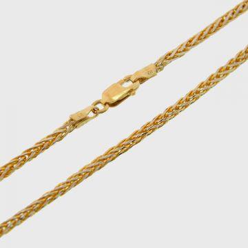 Αλυσίδα Λευκή Κίτρινη Χρυσή 14κ