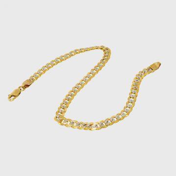 Βραχιόλι Λευκό Κίτρινο Χρυσό 14κ
