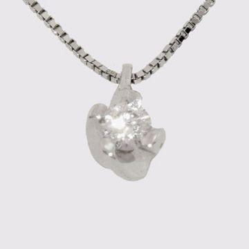 Κρεμαστό λευκόχρυσο με διαμάντι