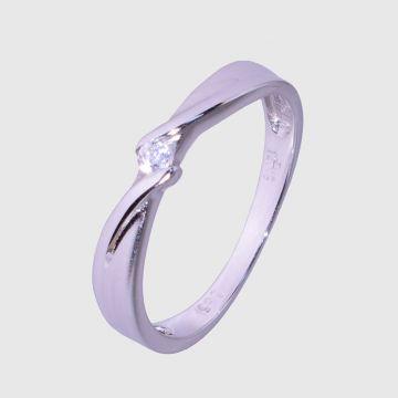 Δαχτυλίδι  λευκόχρυσο 14κ