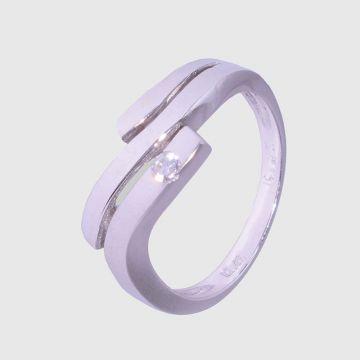 Δαχτυλίδι Λευκόχρυσο 14 κ
