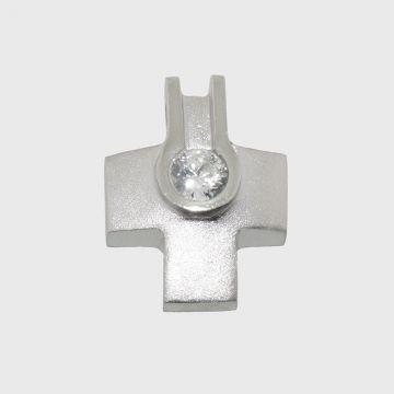 Ασημένιος Σταυρός 925 με πέτρα ζιργκόν