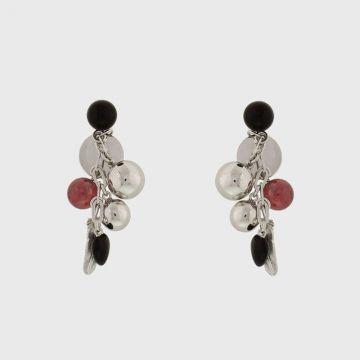 Ασημένια σκουλαρίκια 925 με ρουμπίνι