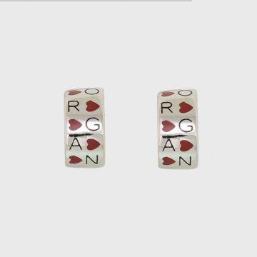 Ασημένια σκουλαρίκια 925 με σμάλτο