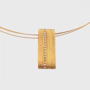 Κολιέ κίτρινος χρυσός 18κ με χρυσό κορδόνι