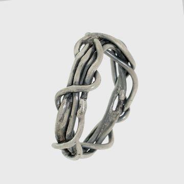 Δαχτυλίδι ασημένιο 950 με οξείδωση