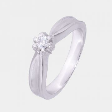 Ring Weißgold 18 Karat mit Diamant