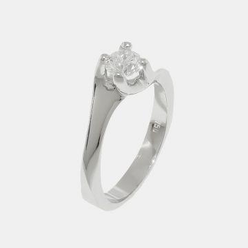 Δαχτυλίδι Λευκόχρυσο 18κτ με Διαμάντι