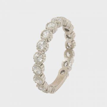 Ασημένιο δαχτυλίδι 925 με ζιργκόν