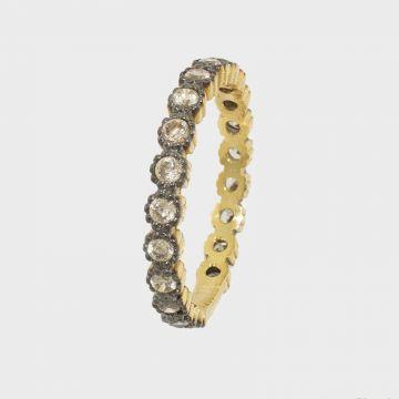 Ασημένιο δαχτυλίδι 925 Κίτρινο επιχρυσωμένο με ζιργκόν