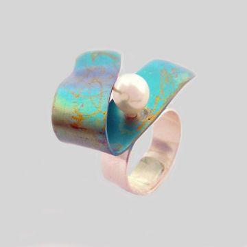 Δαχτυλίδι από τιτάνιο και Ασήμι 925