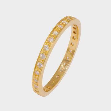 Χρυσό δαχτυλίδι 14 καρατίων με ζιργκόν