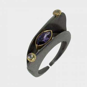 Ασημένιο δαχτυλίδι 925 Επιχρυσωμένο