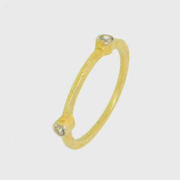 Δαχτυλίδι ασημένιο 925 επιχρυσωμένο