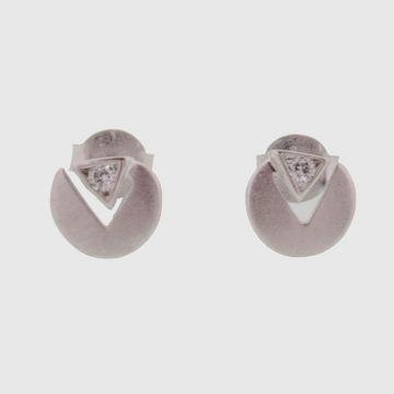 Σκουλαρίκια Λευκόχρυσα 14κ