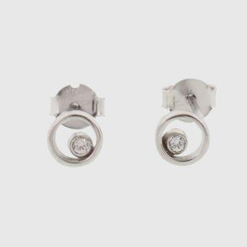 Σκουλαρίκια Λευκόχρυσο 14 καρατίων
