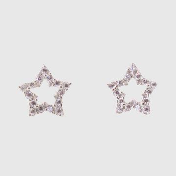 Σκουλαρίκια Λευκόχρυσα 14 καρατίων