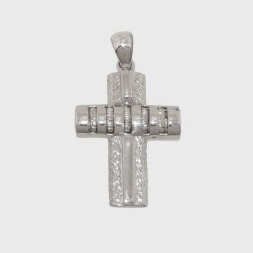 Ασημένιος Σταυρός 925 σκαλιστός
