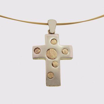 Ασημένιος σταυρός επιχρυσωμένος